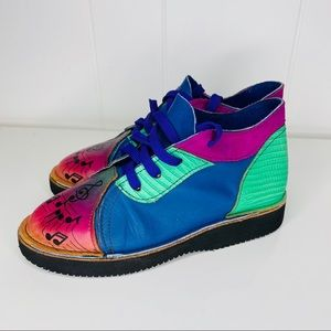 Soletech Leather Custom Comfort Shoes Music Notes